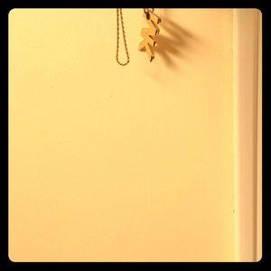 "18"" gold rope chain, custom Michael kors pendant"